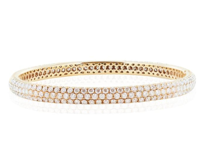 7.55 Carat Rose Gold Diamond Bangle - Boston