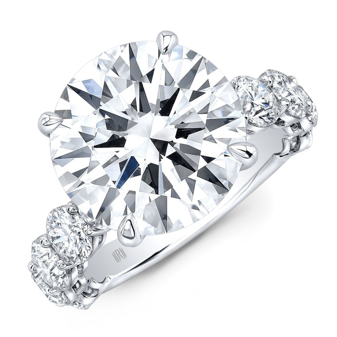 7.96ct Round Brilliant Cut Diamond Ring (GIA Certified Platinum) - ENGAGEMENT Boston