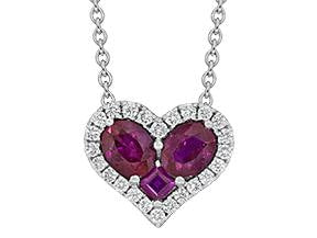 .78 Carat Ruby And Diamond Heart Pendant - Jewelry Boston