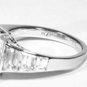 8.15 carat J VS2 Emerald Cut Diamond and Plat Ring (GIA Certified) - ENGAGEMENT Boston