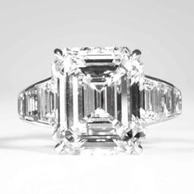Load image into Gallery viewer, 8.15 carat J VS2 Emerald Cut Diamond and Plat Ring (GIA Certified) - ENGAGEMENT Boston