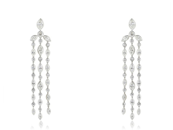 8.25 Carat Diamond Drop Earrings (Platinum) - Jewelry Boston