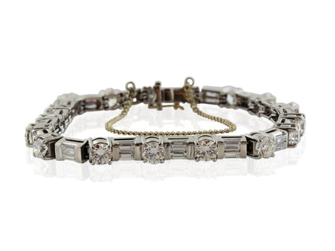 8.25 Carat Diamond Tennis Bracelet (Platinum) - Jewelry Boston