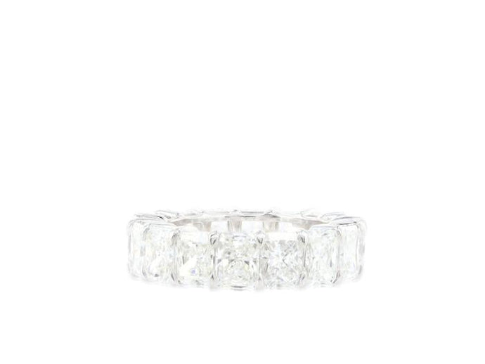 8.75ctw Radiant Cut Diamond Eternity Band (Platinum) - JEWELRY Boston
