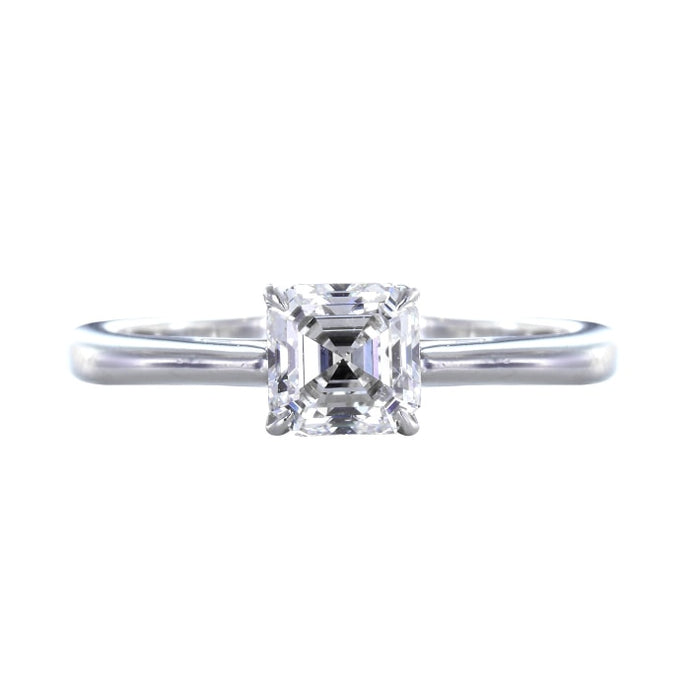 .81ct Asscher Cut Diamond Ring (GIA F/VS2 Platinum) - Boston