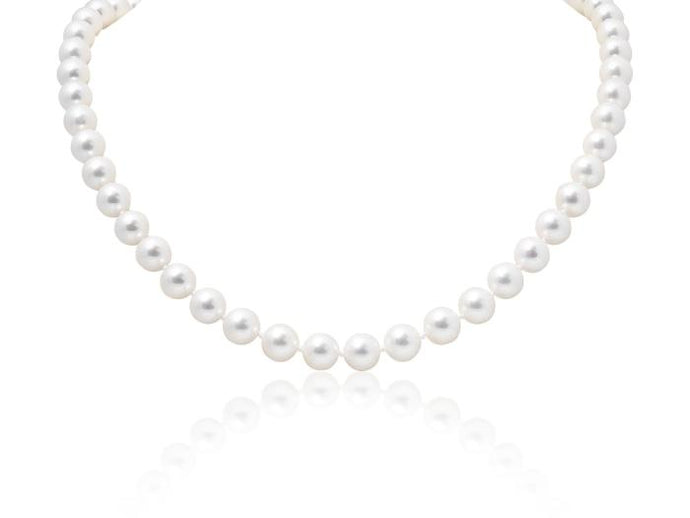 9-9.5mm Akoya Pearl & Diamond Necklace - Boston