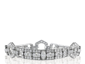 9 Carat Art Deco Diamond Bracelet - Jewelry Boston