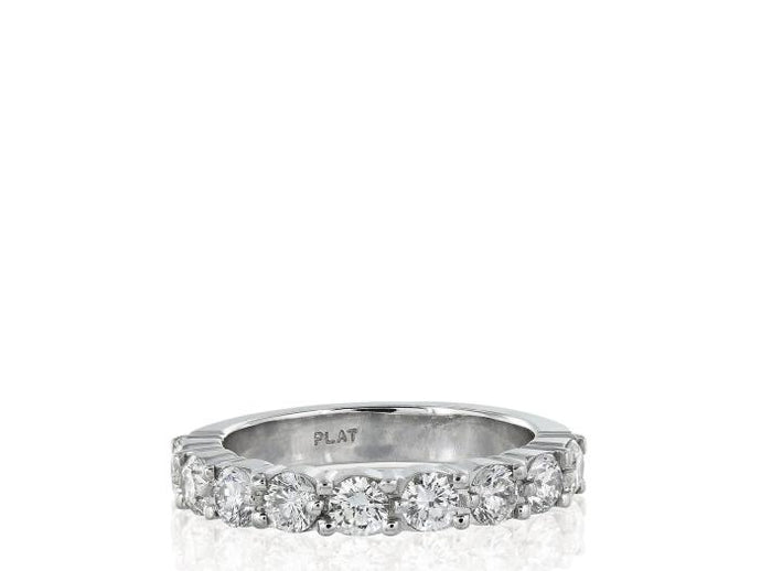 .93ctw Round Brilliant Cut Diamond Band (G/VS2-SI1 Platinum) - JEWELRY Boston