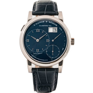 A. Lange And Sohne Lange 1 White Gold Blue Dial 38.5Mm (101.027) - Boston