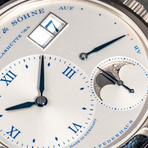 A. Lange & Söhne Little Lange 1 Moonphase 25th Anniversary Limited Edition White Gold 36.8mm (182.066) - Boston