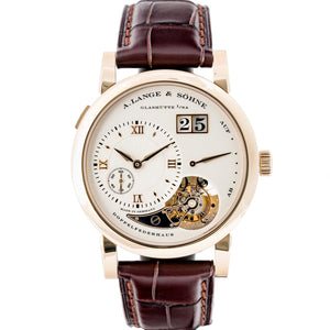 A. Lange & Sohne Lange 1 Tourbillion 165 Years Homage to F. A. Lange Honey Gold 38.5mm (722.050) - LIMITED to 150 pieces - WATCHES Boston