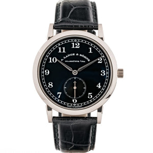 A. Lange & Sohne 1815 Black Dial White Gold 36Mm (206.029) - Watches Boston
