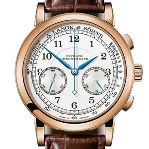 A.lange & Sohne 1815 Chronograph 37mm Pink Gold/Strap (414.032) - WATCHES Boston