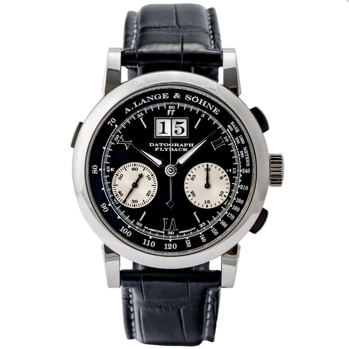 A. Lange & Sohne Datograph Black Dial Platinum 39mm (403.035) - WATCHES Boston