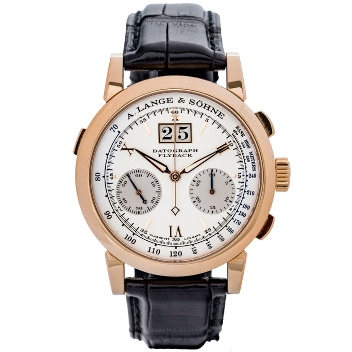 A. Lange & Sohne Datograph Silver Dial Rose Gold 39mm (403.032) - WATCHES Boston