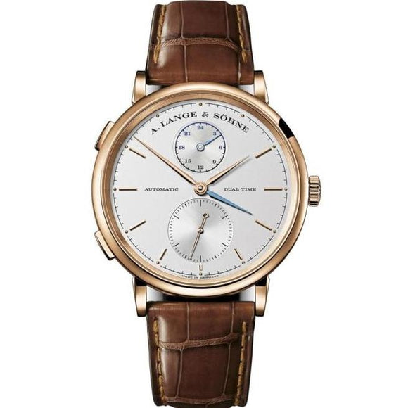 A. Lange & Sohne Saxonia Dual Time Rose Gold (385.032) - Watches Boston