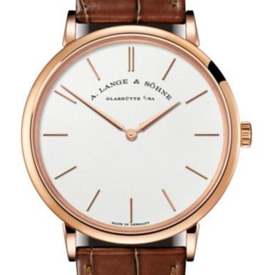 A.lange & Sohne Saxonia Thin Manual Pink Gold - Boston