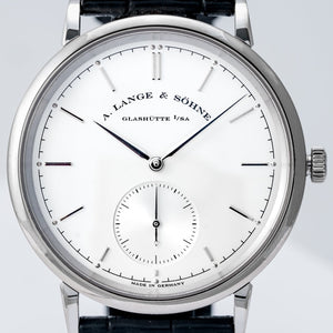 A. Lange & Söhne Saxonia White Gold 39mm (380.027) - Boston