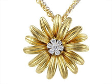 Load image into Gallery viewer, Aaron Henry .28Ctw Diamond Flower Pendant - Boston