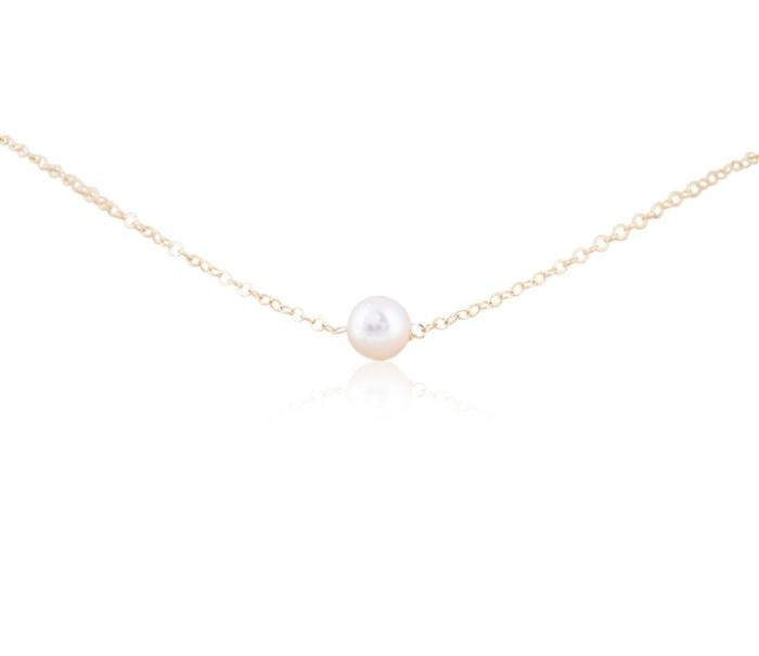Add-A-Pearl 5Mm Single Starter Pearl Necklace W/ 14K Yellow Gold Chain - Gifts Boston