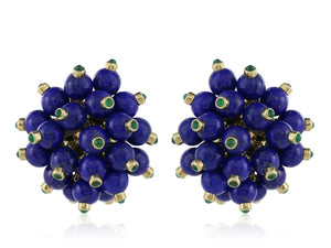 Aletto Brothers Lapis And Emerald Clip Earrings - Jewelry Boston