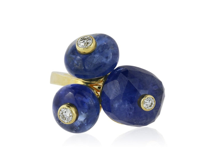 Aletto Brothers Mediterranean No Heat Sapphire And Diamond Ring - Jewelry Boston