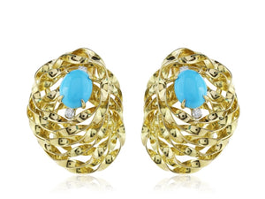 Aletto Brothers Turquoise And Diamond Earrings - Jewelry Boston