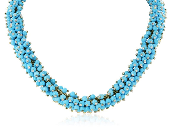 Aletto Brothers Turquoise And Diamond Necklace - Jewelry Boston