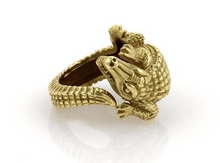 Load image into Gallery viewer, Alligator Motif Ring - Jewelry Designers Boston
