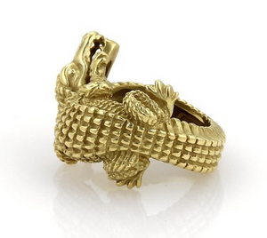 Alligator Motif Ring - Jewelry Designers Boston