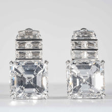 Load image into Gallery viewer, An exceptional pair of 18.21 carat Asscher Cut Diamond Earrings (GIA certified) - JEWELRY Boston