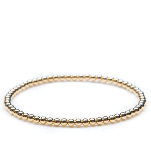 Annabelles Collection~ 3Mm Gold Filled Bead Bracelet - Gifts Boston