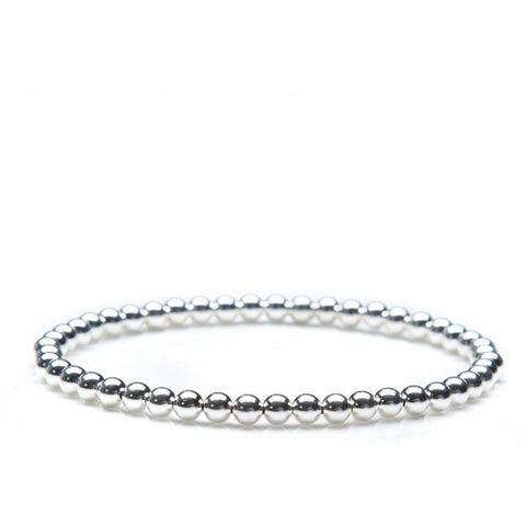 Annabelles Collection~ 3Mm Sterling Silver Bead Bracelet - Gifts Boston