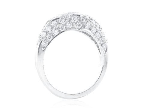 Art Deco Style Diamond Engagement Ring - Jewelry Boston