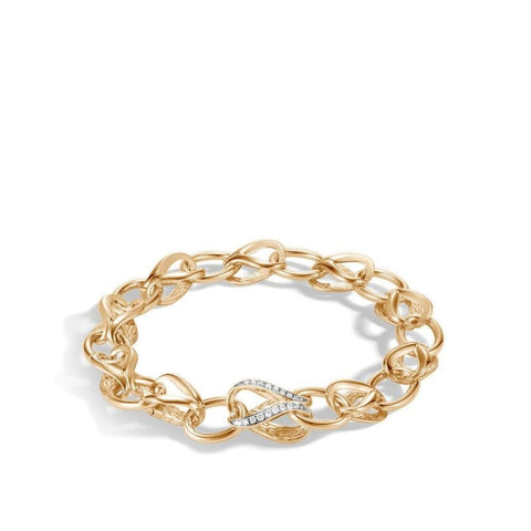 Asli Classic Chain Link Pave Bracelet (Yellow Gold) - Jewelry Designers Boston