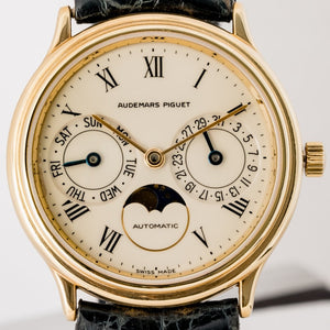 Audemars Piguet Classic Day-Date Moonphase Yellow Gold 33mm (25589BA/002) - WATCHES Boston