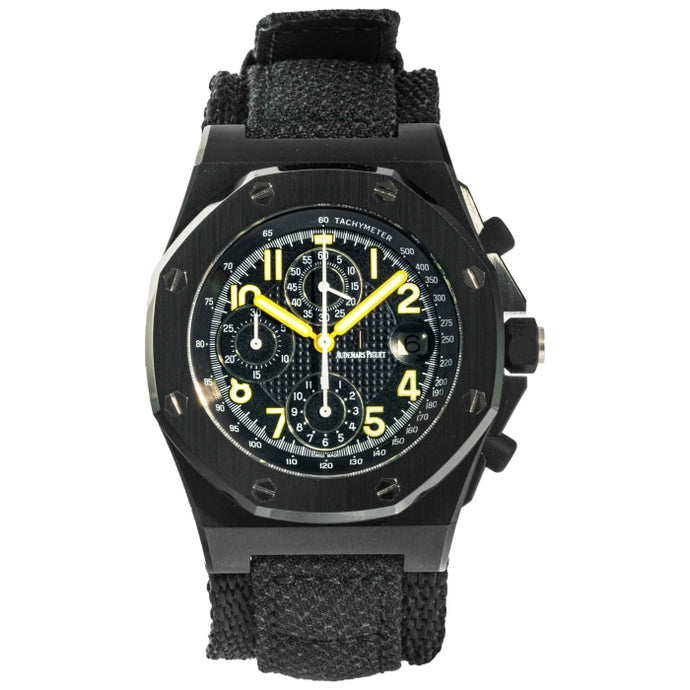 Audemars Piguet End of Days Royal Oak Offshore Chronograph Black PVD Stainless Steel 42mm (25770SN.OO.0009KE.01) - Boston