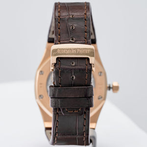 Audemars Piguet Royal Oak Black Dial Rose Gold 39mm (15300OR.OO.D002CR.01) - Boston