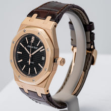 Load image into Gallery viewer, Audemars Piguet Royal Oak Black Dial Rose Gold 39mm (15300OR.OO.D002CR.01) - Boston