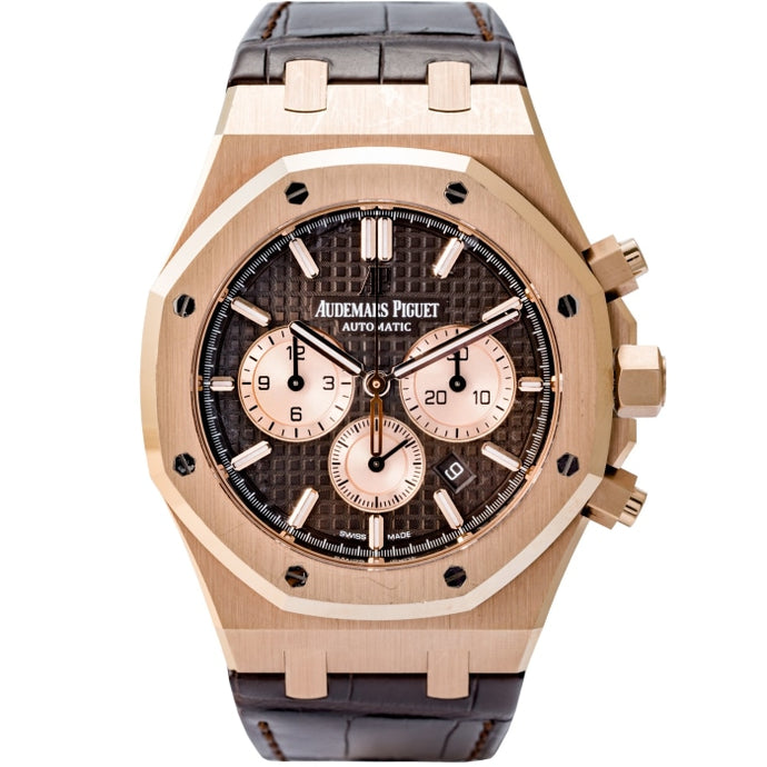 Audemars Piguet Royal Oak Chronograph Rose Gold Brown Dial 41mm (26331OR.OO.D821CR.01) - Boston