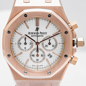 Audemars Piguet Royal Oak Chronograph Rose Gold Silver Dial 41mm (26320OR.OOD088CR.01) - Boston
