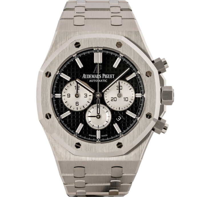 Audemars Piguet Royal Oak Chronograph Stainless Steel Black Dial 41mm (26331ST.OO.1220ST.02) - MINT - Boston
