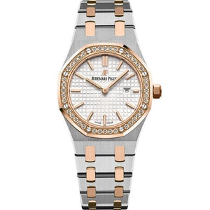 Audemars Piguet Royal Oak Quartz 33Mm Ladies Two Tone W/ Diamonds (67651Sr.zz.1261Sr.01) - Watches Boston