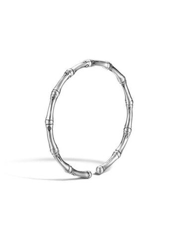 Bamboo 4mm Silver Slim Cuff - Jewelry Designers Boston
