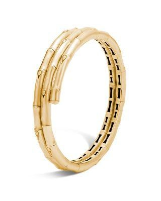 Bamboo Double Coil Bracelet (Yellow Gold) - Jewelry Designers Boston