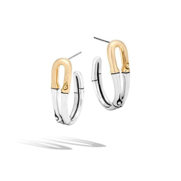 Bamboo Gold & Silver Small Hoop - Jewelry Designers Boston