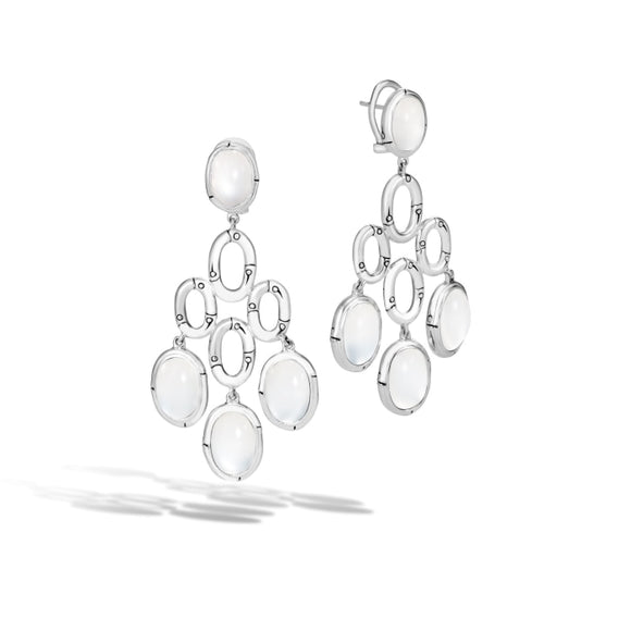 Bamboo Moonstone Chandelier Earrings - Jewelry Designers Boston
