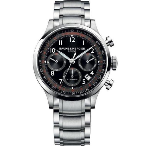 Baume & Mercier Capeland Chronograph 42Mm Stainless Steel (10062) - Watches Boston