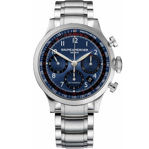 Baume & Mercier Capeland Chronograph 42Mm Stainless Steel (10066) - Watches Boston