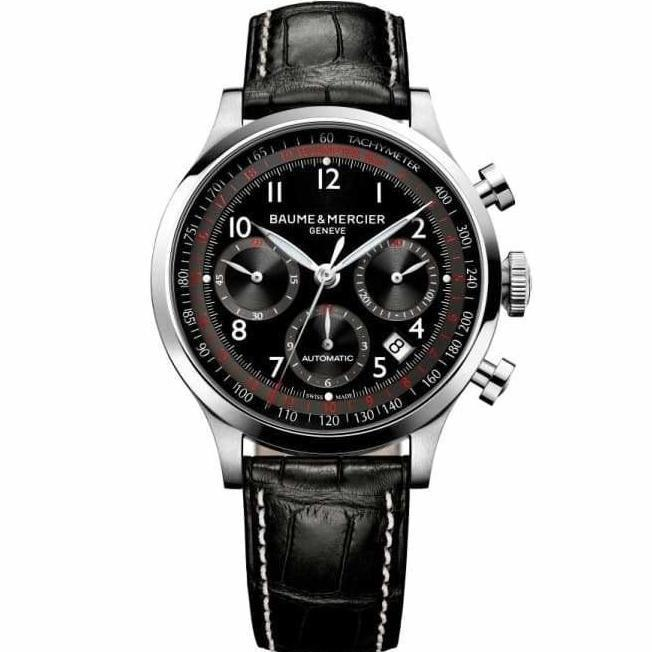 Baume & Mercier Capeland Chronograph 42Mm Stainless Steel (10084) - Watches Boston